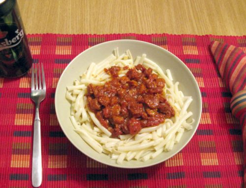 Spaghete cu sos á la Mada