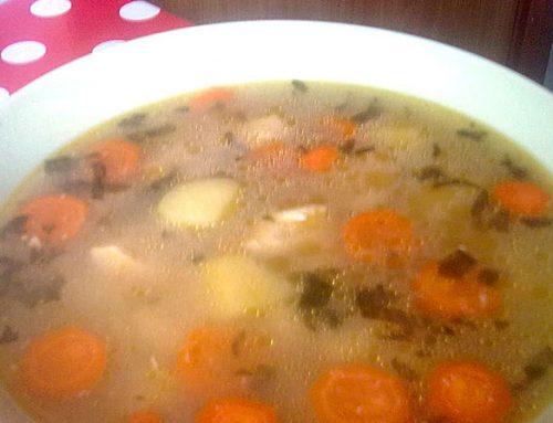 Ciorba de legume cu piept de pui