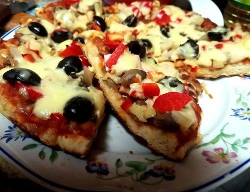 Pizza la tigaie (fara drojdie!)